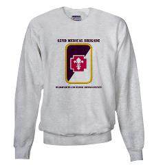 62MBHHC - A01 - 03 - DUI - Headquarter and Headquarters Company with Text Sweatshirt