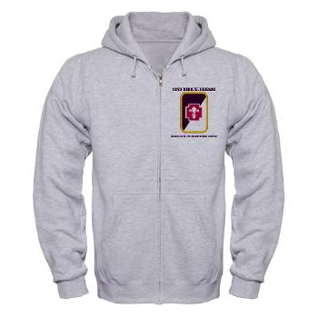 62MBHHC - A01 - 03 - DUI - Headquarter and Headquarters Company with Text Zip Hoodie