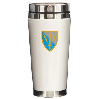 63NSC - M01 - 03 - DUI - 63rd Network Support Company Ceramic Travel Mug
