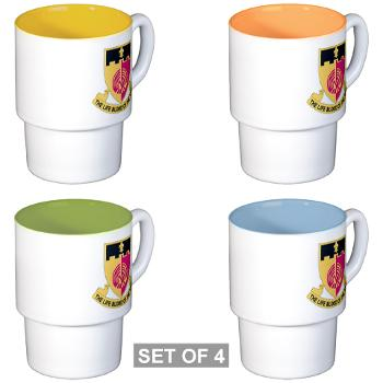 64BSB - M01 - 03 - DUI - 64th Bde - Support Bn - Stackable Mug Set (4 mugs)