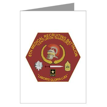 6MRB - M01 - 02 - DUI - 6th Medical Recruiting Bn Greeting Cards (Pk of 20)