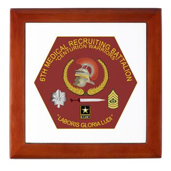 6MRB - M01 - 03 - DUI - 6th Medical Recruiting Bn Keepsake Box