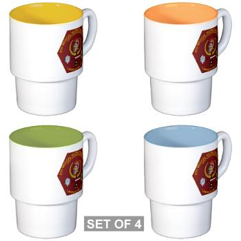 6MRB - M01 - 03 - DUI - 6th Medical Recruiting Bn Stackable Mug Set (4 mugs)