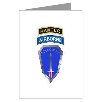 6RTB - M01 - 02 - DUI - 6th Ranger Training Bde - Greeting Cards (Pk of 20)