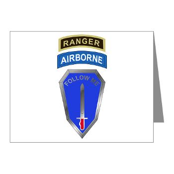 6RTB - M01 - 02 - DUI - 6th Ranger Training Bde - Note Cards (Pk of 20)