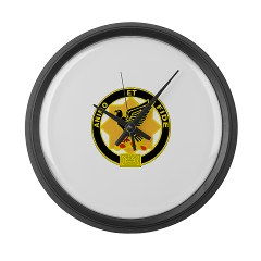 6S1CR - M01 - 03 - DUI - 6th Squadron - 1st Cavalry Regiment Large Wall Clock