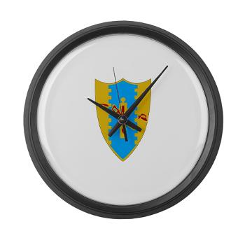 6S4CR - M01 - 03 - DUI - 6th Sqdrn - 4th Cavalry Regiment Large Wall Clock