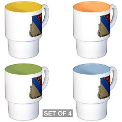 702BSB - M01 - 03 - DUI - 702nd Bde - Support Bn - Stackable Mug Set (4 mugs)