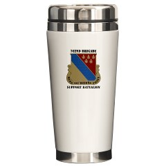 702BSB - M01 - 03 - DUI - 702nd Bde - Support Bn with Text - Ceramic Travel Mug