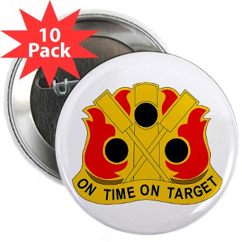 "72FAB - M01 - 01 - DUI - 72nd Field Artillery Brigade - 2.25"" Button (10 pack)"