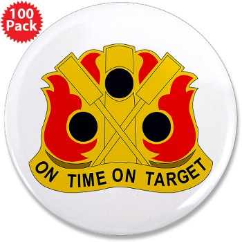 "72FAB - M01 - 01 - DUI - 72nd Field Artillery Brigade - 3.5"" Button (100 pack)"