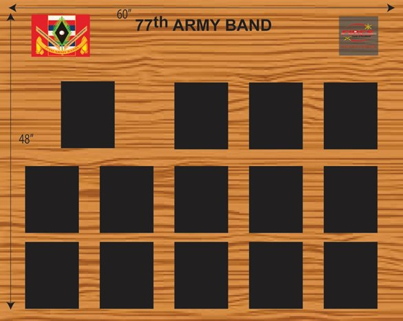 77th Army Band Unit Display