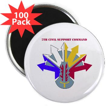"7CSC - M01 - 01 - DUI - 7th Civil Support Command 2.25"" Magnet (100 pack)"