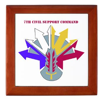 7CSC - M01 - 03 - DUI - 7th Civil Support Command Keepsake Box