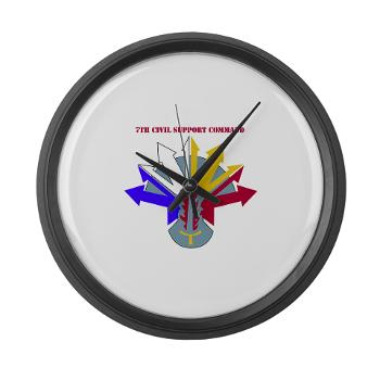 7CSC - M01 - 03 - DUI - 7th Civil Support Command Large Wall Clock