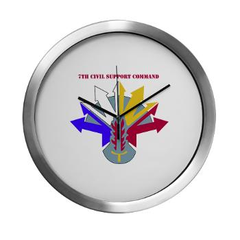 7CSC - M01 - 03 - DUI - 7th Civil Support Command Modern Wall Clock