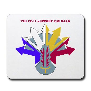 7CSC - M01 - 03 - DUI - 7th Civil Support Command Mousepad