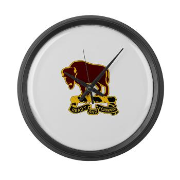 7S10CR - M01 - 03 - DUI - 7th Sqdrn - 10th Cavalry Regt - Large Wall Clock