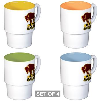 7S10CR - M01 - 03 - DUI - 7th Sqdrn - 10th Cavalry Regt - Stackable Mug Set (4 mugs)
