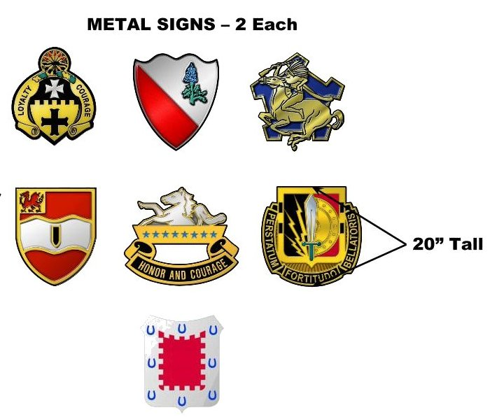 "1st Cav 2BCT ""Blackjack"" - Signage Item 5"
