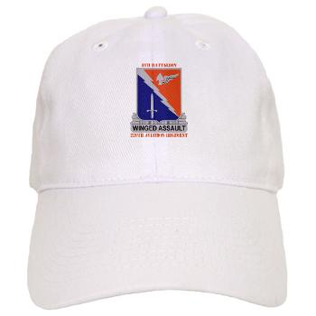 8B229AR - A01 - 01 - DUI - 8th Battalion, 229th Aviation Regiment with text - Cap