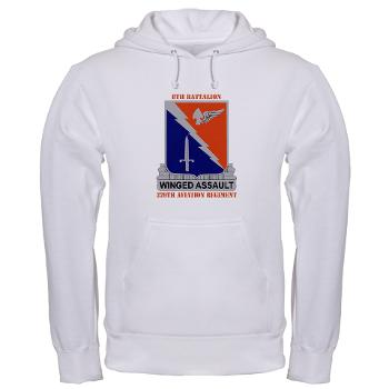 8B229AR - A01 - 03 - DUI - 8th Battalion, 229th Aviation Regiment with text - Hooded Sweatshirt