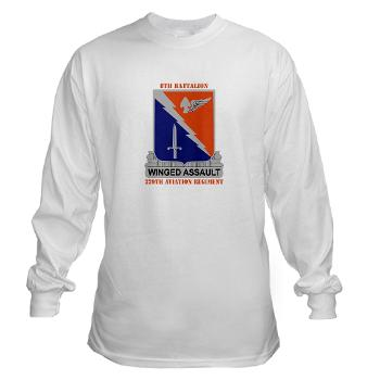 8B229AR - A01 - 03 - DUI - 8th Battalion, 229th Aviation Regiment with text - Long Sleeve T-Shirt