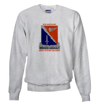 8B229AR - A01 - 03 - DUI - 8th Battalion, 229th Aviation Regiment with text - Sweatshirt