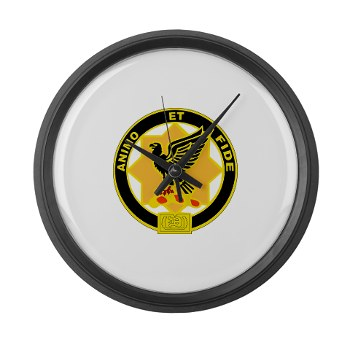 8S1CR - M01 - 03 - DUI - 8th Squadron - 1st Cavalry Regiment Large Wall Clock