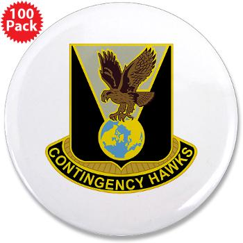 "900CCB - M01 - 01 - DUI - 900th Contingency Contracting Battalion - 3.5"" Button (100 pack)"