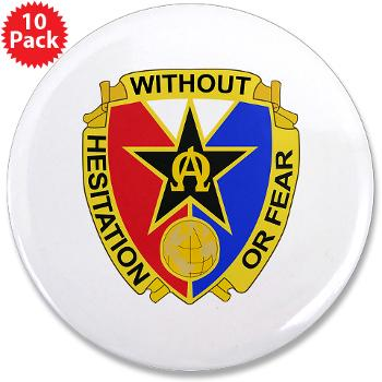 "901CCB - M01 - 01 - DUI - 901st Contingency Contracting Battalion - 3.5"" Button (10 pack)"