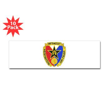 901CCB - M01 - 01 - DUI - 901st Contingency Contracting Battalion - Sticker (Bumper 10 pk)