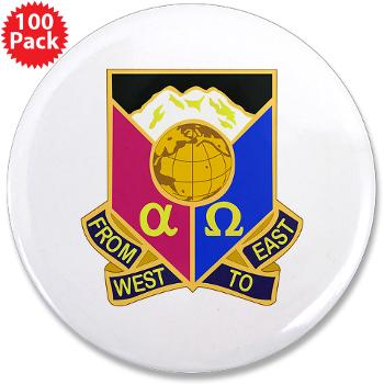 "902CCB - M01 - 01 - DUI - 902nd Contingency Contracting Battalion - 3.5"" Button (100 pack)"