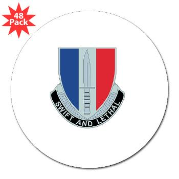"AC189IB - M01 - 01 - A Company - 189th Infantry Bde - 3"" Lapel Sticker (48 pk)"