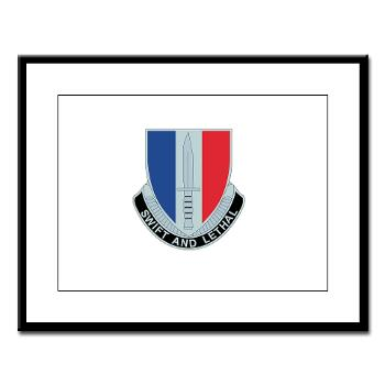 AC189IB - M01 - 02 - A Company - 189th Infantry Bde - Large Framed Print