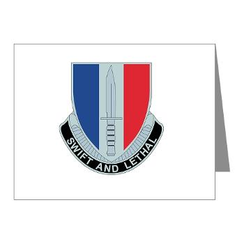 AC189IB - M01 - 02 - A Company - 189th Infantry Bde - Note Cards (Pk of 20)