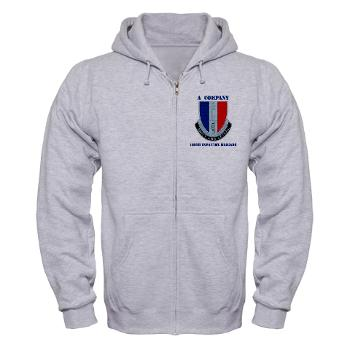 AC189IB - A01 - 03 - A Company - 189th Infantry Bde with Text - Zip Hoodie