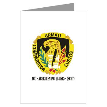 ACCAPG - M01 - 02 - DUI - ACC - Aberdeen P.G. (C4ISR) - (SCRT) with Text Greeting Cards (Pk of 20)
