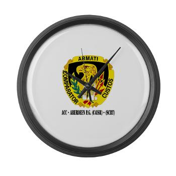 ACCAPG - M01 - 03 - DUI - ACC - Aberdeen P.G. (C4ISR) - (SCRT) with Text Large Wall Clock