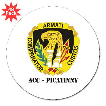 "ACCP - M01 - 01 - DUI-ACC - Picatinny with Text 3"" Lapel Sticker (48 pk)"