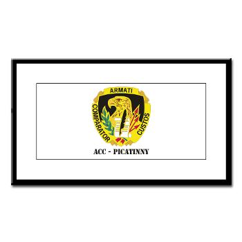 ACCP - M01 - 02 - DUI-ACC - Picatinny with Text Small Framed Print