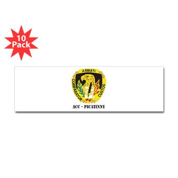 ACCP - M01 - 01 - DUI-ACC - Picatinny with Text Sticker (Bumper 10 pk)