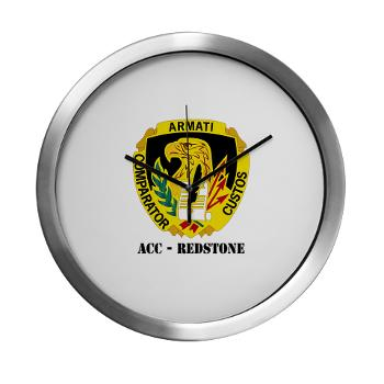 ACCR - M01 - 03 - DUI - ACC - Redstone with Text - Modern Wall Clock