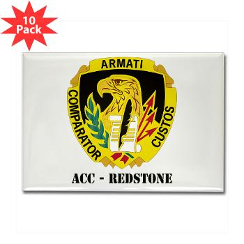 ACCR - M01 - 01 - DUI - ACC - Redstone with Text - Rectangle Magnet (10 pack)