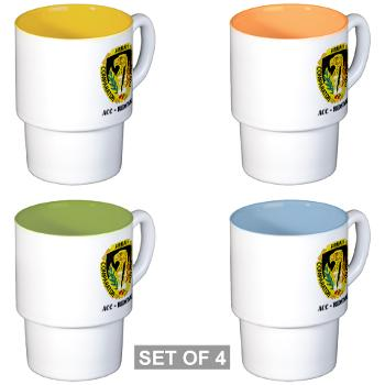 ACCR - M01 - 03 - DUI - ACC - Redstone with Text - Stackable Mug Set (4 mugs)