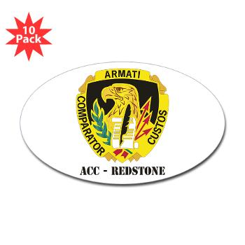 ACCR - M01 - 01 - DUI - ACC - Redstone with Text - Sticker (Oval 10 pk)