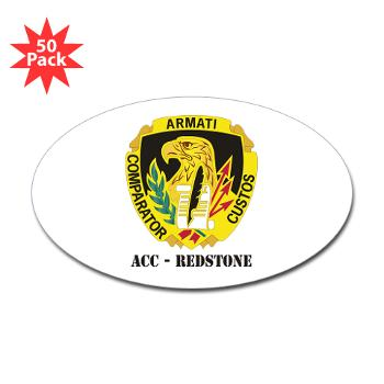 ACCR - M01 - 01 - DUI - ACC - Redstone with Text - Sticker (Oval 50 pk)