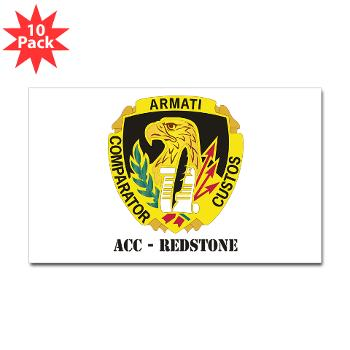 ACCR - M01 - 01 - DUI - ACC - Redstone with Text - Sticker (Rectangle 10 pk)
