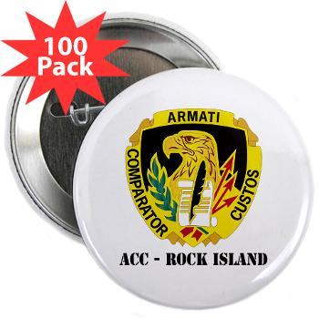 "ACCRI - M01 - 01 - DUI - ACC - Rock Island with text - 2.25"" Button (100 pack)"