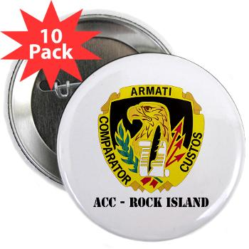 "ACCRI - M01 - 01 - DUI - ACC - Rock Island with text - 2.25"" Button (10 pack)"